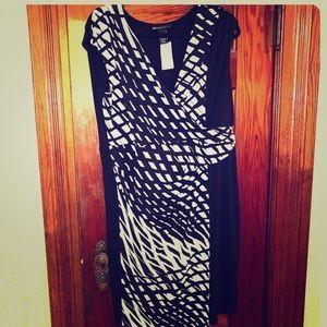 NWT Lane Bryant black and White Dress Size 14/16